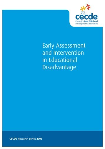 Early Assessment and Intervention in Educational Disadvantage
