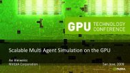 Scalable Multi Agent Simulation on the GPU