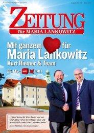 Ausgabe 01 - 2015 | Mit ganzem Herzen für Maria Lankowitz