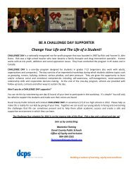BE A CHALLENGE DAY SUPPORTER Change Your Life and The ...