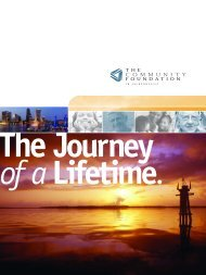 The Journey of a Lifetime - The Community Foundation in Jacksonville