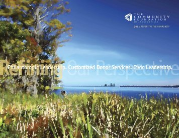 Refining Our Perspective - Annual Report 2011 - The Community ...