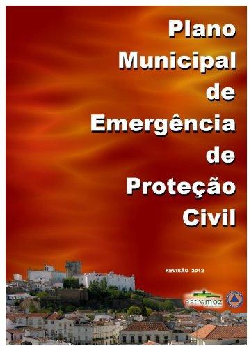 Plano Municipal de Emergência de Proteção Civil 2012 - Câmara ...