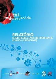 Relatório sobre Segurança - Universidade Federal de Alagoas
