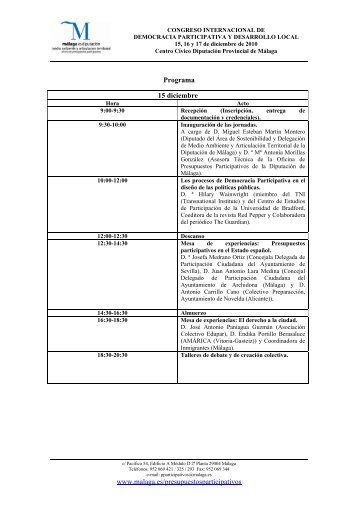 Programa - Diputación de Málaga
