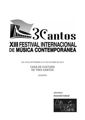Programa de mano del festTC 2013 - Sul Ponticello