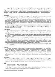 Approvazione dello Statuto dell'Agenzia regionale per il lavoro e la ...
