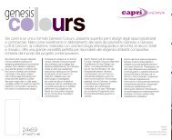 Sei colori e un unico formato Genesis Colours, presenta superfici ...