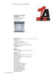Datenblatt Geschirrspüler BOSCH SGV45M83EU