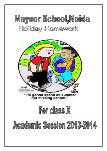 cambridge school indirapuram holiday homework 2017-18