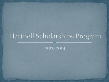 Hartnell College Scholarship Workshop Presentation