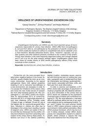 VIRULENCE OF UROPATHOGENIC ESCHERICHIA COLI