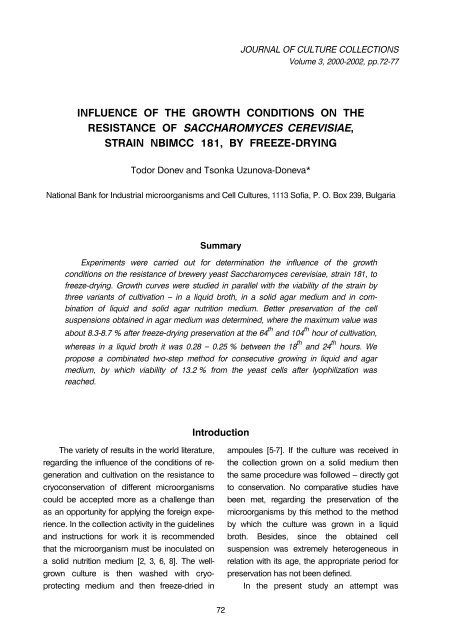 full text [PDF] - Bulgarian national collection for