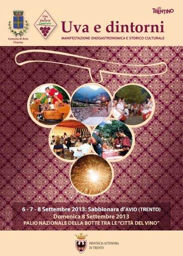 6 - 7 - 8 Settembre 2013: Sabbionara d'AVIO ... - Uva e dintorni
