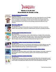 Winter Is In the Air! Great Books for Grade 3 & Up - Tulsa City ...