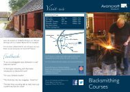 Blacksmithing Leaflet - Avoncroft