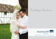 Avoncroft Museum Wedding Brochure