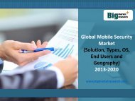 Global Mobile Security Market (Solution, Types, OS, End Users and Geography) to 2020