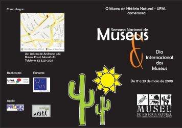 Programação da Semana dos Museus no MNH - Universidade ...