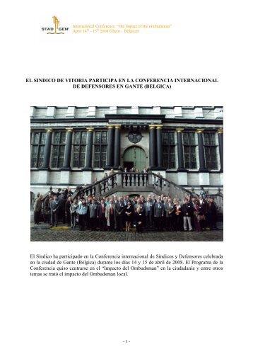 El Síndico ha participado en la Conferencia internacional de ...