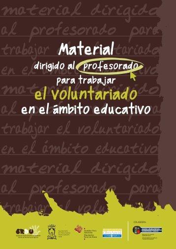 material dirigido al profesorado para trabajar el voluntariado en el ...