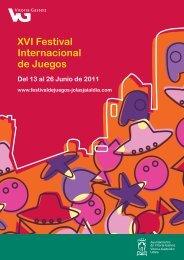 XVI Festival Internacional de Juegos - Ayuntamiento de Vitoria-Gasteiz