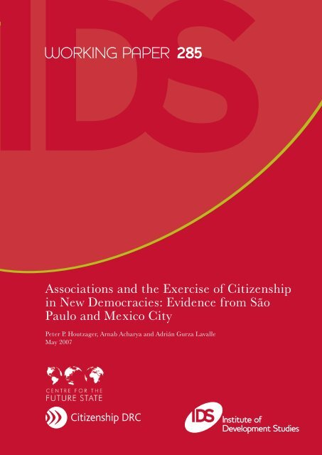Associations and the Exercise of Democratic Citizenship in New ...
