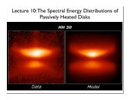 Lecture 10: The Spectral Energy Distributions of Passively Heated ...