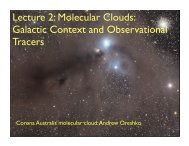 Lecture 2: Molecular Clouds: Galactic Context and Observational ...