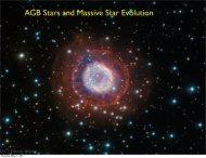Lecture 24: AGB Stars and Massive Star Evolution
