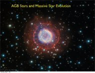 Lecture 24: AGB Stars and Massive Star Evolution