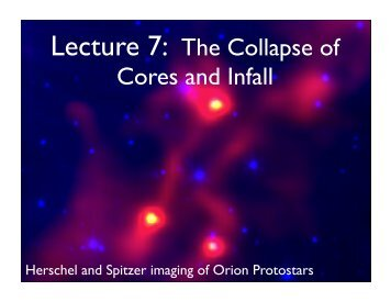 Lecture 7: The Collapse of Cores and Infall