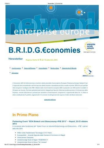 Newsletter n.8 del 16 settembre 2013 - Confindustria Sicilia