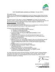 Betrifft: Schulinformation, Aufnahme von Schülern - Colegio Alemán ...