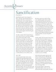 Sanctification - Brethren in Christ Church