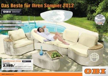 Das Beste für Ihren Sommer 2012 - Obi