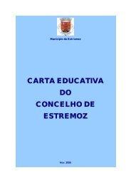 CARTA EDUCATIVA DO CONCELHO DE ESTREMOZ - Câmara ...