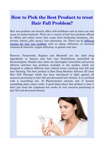 How to Pick the Best Product to treat Hair Fall Problem?