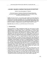 A secret sharing scheme for image encryption ... - IEEE Xplore
