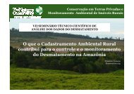 CAR e Monitoramento do desmatamentox - OBT