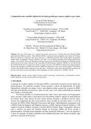 Comparação entre modelos digitais de elevação ... - OBT - Inpe