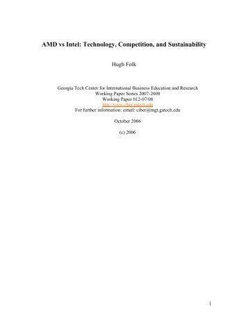 competitive analysis of amd and intel Amd and intel's latest competition: how to win the internet of things  along  with business intelligence software, to sort and analyze the information influx.