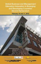 Schedule of Events (PDF) - GT CIBER - Georgia Institute of Technology