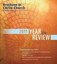 YEARin REVIEW - Brethren in Christ Church