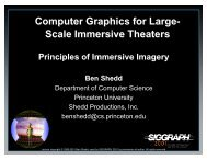 Computer Graphics for Large- Scale Immersive Theaters Computer ...