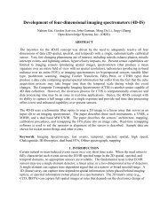 Development of four-dimensional imaging spectrometers - Opto ...
