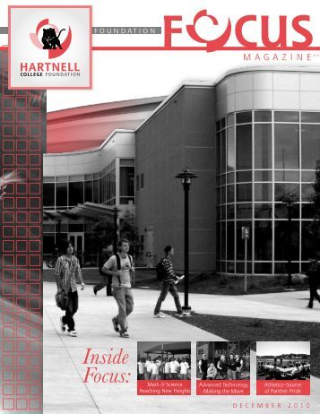 December 2010 Foundation Focus Newsletter - Hartnell College!!