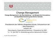 Vortrag zur Organisationsentwicklung (pdf-Datei) - Wilhelm ...