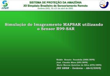 Simulação do Imageamento MAPSAR utilizando o ... - OBT - Inpe