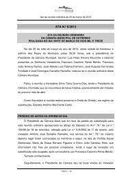 ATA N.º 6/2013 - Câmara Municipal de Estremoz